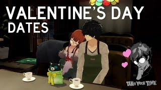 Persona 5 - All Valentine's Day Dates (ENGLISH)