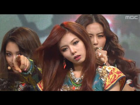 4Minute - Volume up, 포미닛 - 볼륨 업, Music Core 20120512