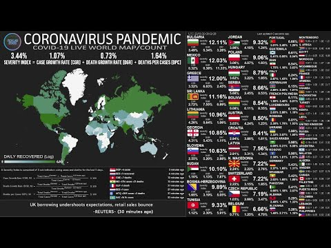 [Live] Coronavirus Pandemic: Spikes in Cases and Death.