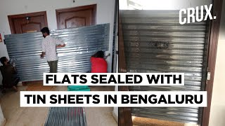 COVID-19: Bengaluru civic body sealed two flats with Tin s..