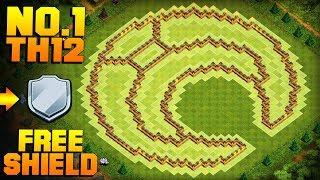 MOST EPIC TH12 FARMING BASE + PROOF! | Moon | CoC Town Hall 12 FREE SHIELD Base | Clash of Clans