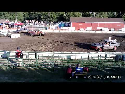 Manchester Community Fair 2019 Figure Eight Heat 1(FWD cars) (July 13,2019) Manchester,Michigan