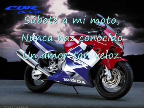 Subete a mi Moto Novela Subete a mi Moto Letra Lyric