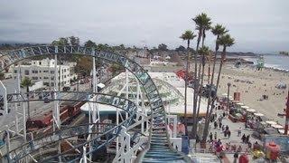 Hurricane Front Seat on-ride HD POV Santa Cruz Beach Boardwalk