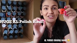 HUGE KL POLISH HAUL! | Closing KL Polish