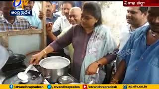 MLA Vangalapudi Anitha Turns into Chef in Visakha Dist..