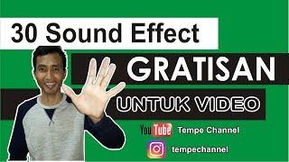 Download Efek Suara Gratisan Untuk Video Youtube, Instagram Dan Lain-lain ✔ | Tempe Channel
