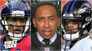 Stephen A. predicts the Texans will upset the Ravens in Week 2 | First Take