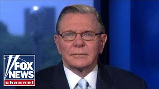 Jack Keane reacts after Russian bombers intercepted by US