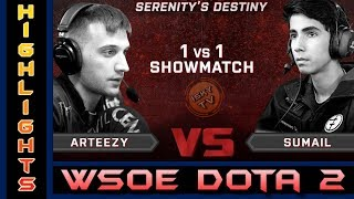 SUMAIL vs ARTEEZY / 1v1 MID SOLO  WSOE DOTA 2 Best of 3