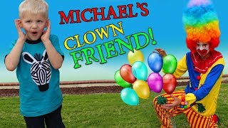 Happy Clown Playtime with Michael!! - YouTube