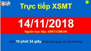 Kết quả xổ số Miền Nam trực tiếp ngày 14/11/2018. XSMN Cần Thơ, Đồng Nai, Sóc Trăng