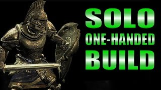 Skyrim SE Remastered Gameplay - Solo One-Handed Warrior Build, Complete Overview