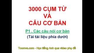 Học tiếng Anh - 3000 câu thông dụng nhất(Phần 1)