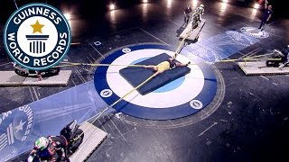Longest duration restraining four motorcycles - Guinness World Records