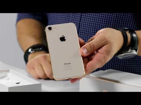 Unboxing av nya iPhone 8