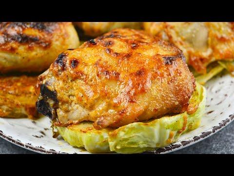Если не пробовали так готовить, то сейчас самое время! Капустные стейки с курицей для всей семьи!