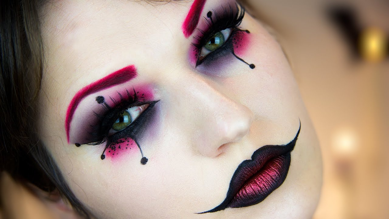 harley quinn halloween makeup tutorial youtube. Black Bedroom Furniture Sets. Home Design Ideas
