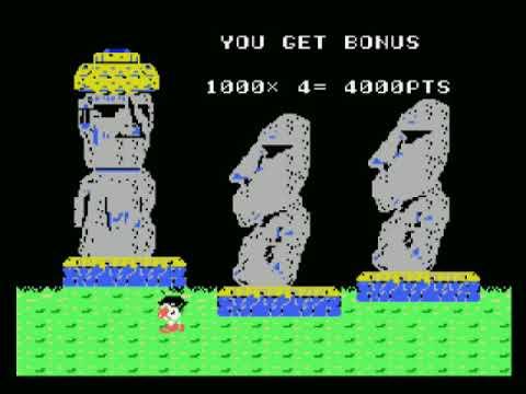 Pequeño análisis y gameplay de Moai No Hihou (MSX) - 1986 Casio