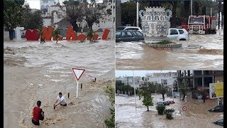 تونس: أربعة قتلى وخسائر كبيرة في فيضانات مدينة نابل     -
