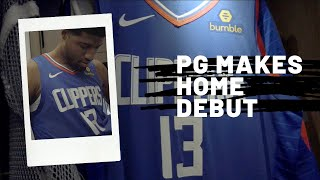 Paul George Makes His LA Clippers Home Debut