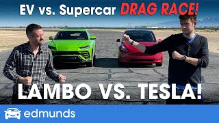 Drag Race! Tesla Model Y vs. Lamborghini Urus | EV vs. Supercar | 0-60 Performance & more