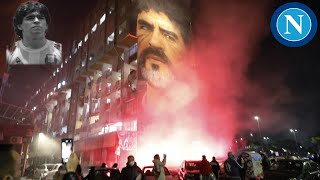 Napoli Fans Gather In The City To Pay Tribute To Diego Maradona