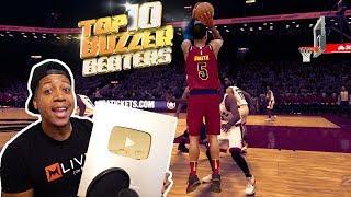 TOP 10 Ridiculous BUZZER Beaters / 1 Million Subs Reward   NBA 2K18