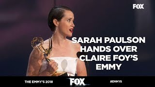 The Emmy's 2018 | Sarah Paulson hands over an Emmy to Claire Foy | FOX