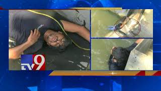 Drunk man jumps into Krishna twice, rescued- Exclusive vis..