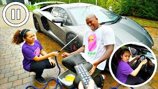 PAUSE CHALLENGE WITH MY DAD FOR 24 HOURS!!