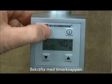 Programmera timern på KTX elpatron till vår handdukstork | Svedbergs