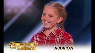 Lilly Wilker: 11-Year-Old AMAZING Animal Impressionist Does Farm Animals | America's Got Talent 2018