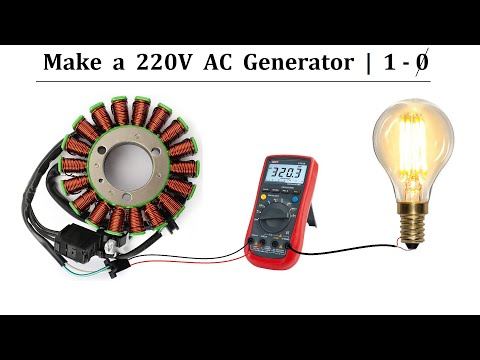24v DC Motor to 220V AC Generator - EASY PROJECT 2020