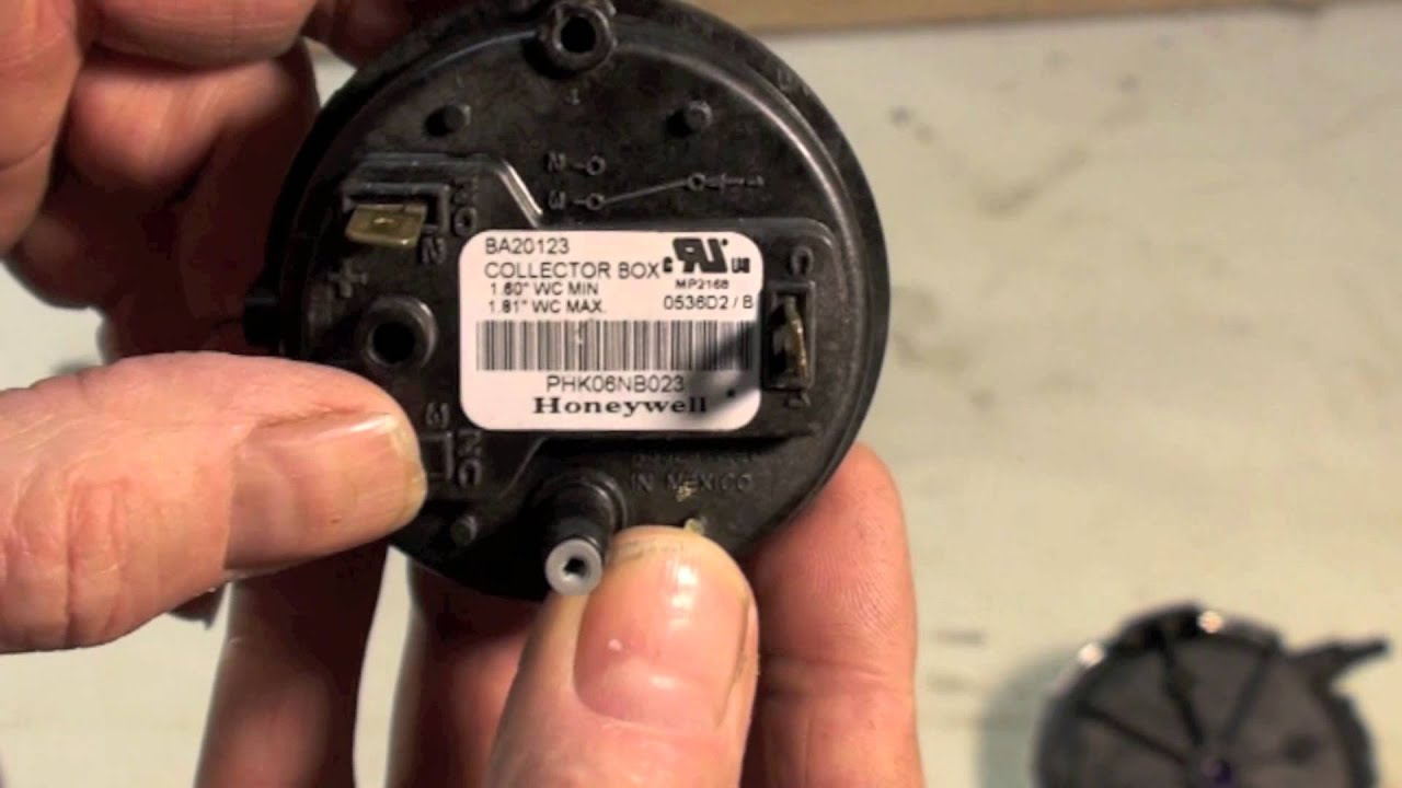 How Gas Furnace Pressure Switches Work Youtube