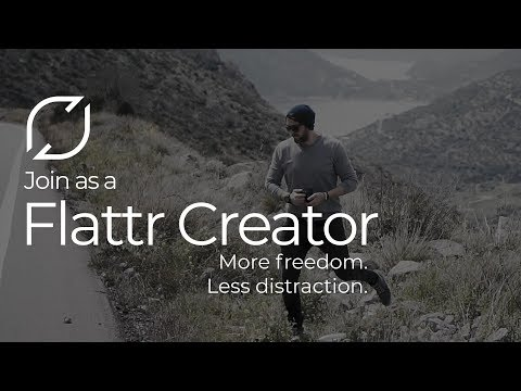 Flattr Creators : More freedom. Less distraction.