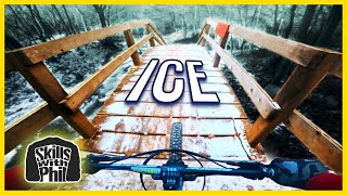 Riding Freezing Downhill Trails In Icey Conditions! 🥶| Skills with Phil