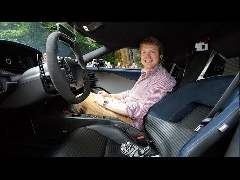 Shmee150 passenger ride in the Ford GT with Harry Tinknell at Goodwood Festival of Speed