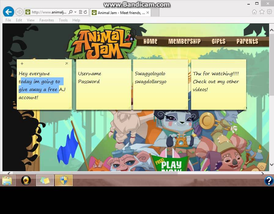 Animal Jam passwords members