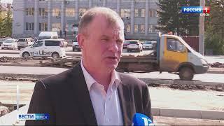 Омские автомобилисты ругают новую организацию движения на пересечении улицы Нефтезаводской и проспекта Мира