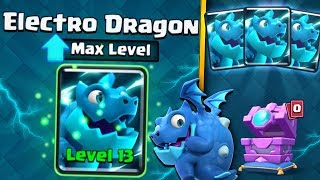 FULLY MAXED NEW ELECTRO DRAGON UPGRADE! | Clash Royale | BEST MAX ELECTRO DRAGON DECK GAMEPLAY