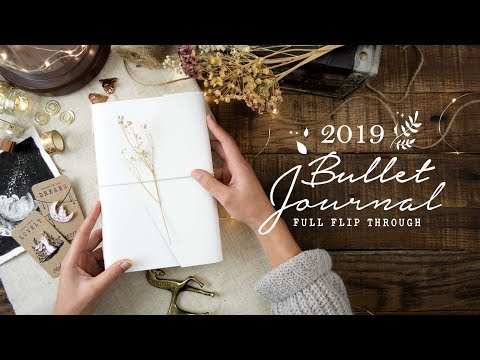 My 2018 Bullet Journal Flip through | A MAGICAL YEAR IT WAS! ✨