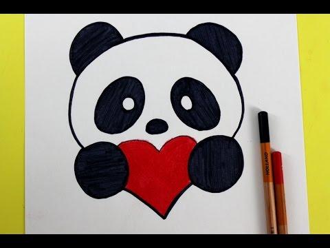 Oso panda dibujado para marcar cuadernos Para niña
