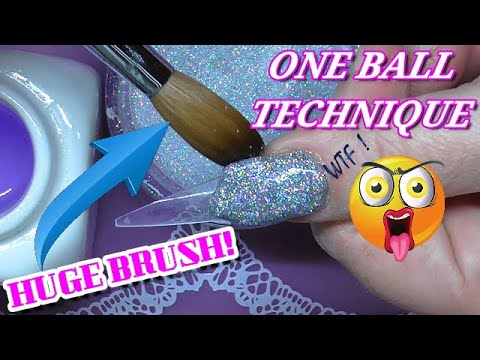 TRYING THE ONE BALL TECHNIQUE | REAL TIME | ABSOLUTE NAILS