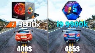 Ryzen 7 3800x OC vs Core i9 9900k OC Test in 9 Games
