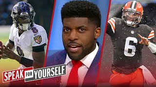 Lamar has more to prove w/ playoff berth as defending NFL MVP than Baker — Acho | SPEAK FOR YOURSELF