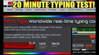 (NO AUDIO) 20 MINUTE TYPING TEST) 1 HOUR OF RAGE