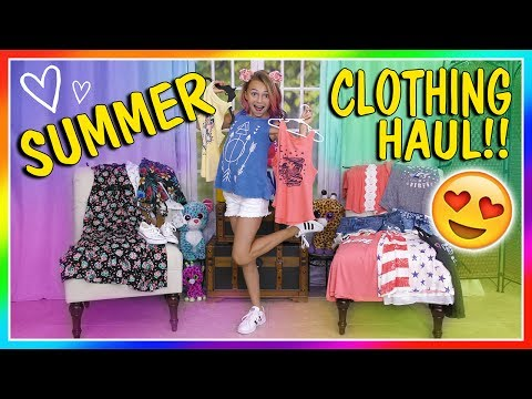 KAYLA'S SUMMER CLOTHES HAUL 2017   We Are The Davises