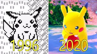 Evolution of Pokémon Games 1996-2020