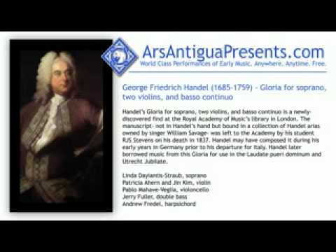 George Friedrich Handel (1685-1759) - Gloria for soprano, tw